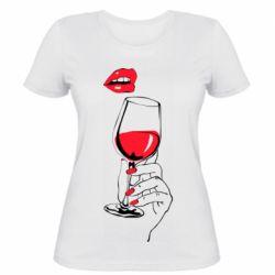 Жіноча футболка Lady is drinking