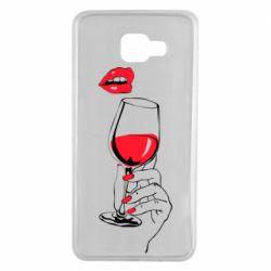 Чохол для Samsung A7 2016 Lady is drinking