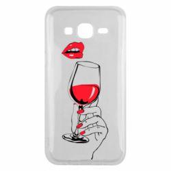 Чохол для Samsung J5 2015 Lady is drinking