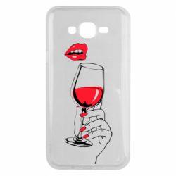 Чохол для Samsung J7 2015 Lady is drinking