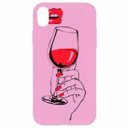 Чохол для iPhone XR Lady is drinking