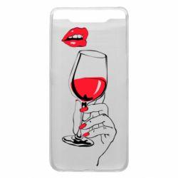 Чохол для Samsung A80 Lady is drinking