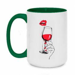Кружка двоколірна 420ml Lady is drinking