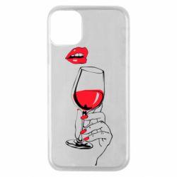 Чохол для iPhone 11 Pro Lady is drinking