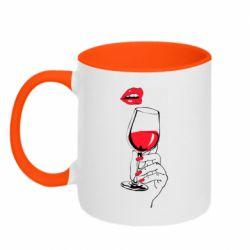 Кружка двоколірна 320ml Lady is drinking