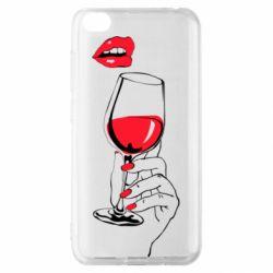 Чохол для Xiaomi Redmi Go Lady is drinking