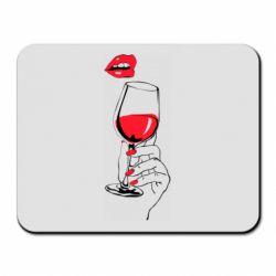 Килимок для миші Lady is drinking