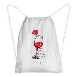Рюкзак-мішок Lady is drinking