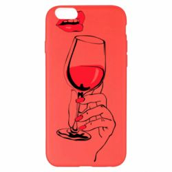 Чохол для iPhone 6 Plus/6S Plus Lady is drinking