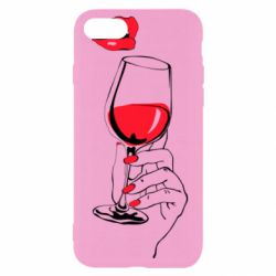 Чохол для iPhone 7 Lady is drinking