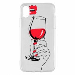 Чохол для iPhone X/Xs Lady is drinking