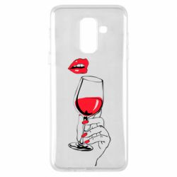 Чохол для Samsung A6+ 2018 Lady is drinking