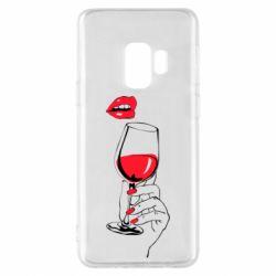 Чохол для Samsung S9 Lady is drinking