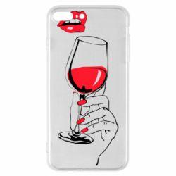 Чохол для iPhone 8 Plus Lady is drinking