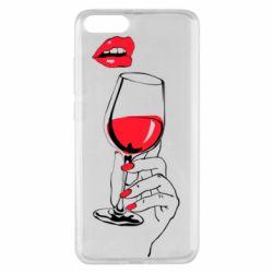 Чохол для Xiaomi Mi Note 3 Lady is drinking