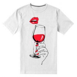 Чоловіча стрейчева футболка Lady is drinking