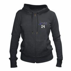 Женская толстовка на молнии Lakers 24