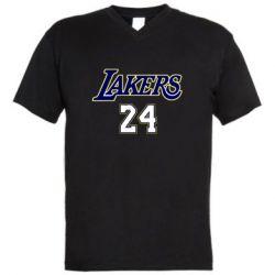 Мужская футболка  с V-образным вырезом Lakers 24