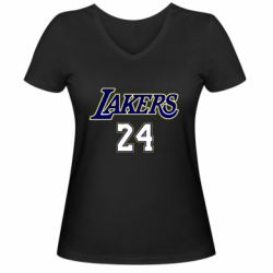 Женская футболка с V-образным вырезом Lakers 24