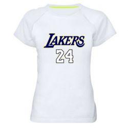 Женская спортивная футболка Lakers 24