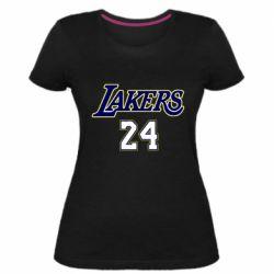 Женская стрейчевая футболка Lakers 24