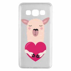 Чохол для Samsung A3 2015 Lama with heart