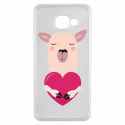 Чохол для Samsung A3 2016 Lama with heart