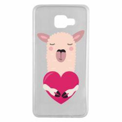 Чохол для Samsung A7 2016 Lama with heart