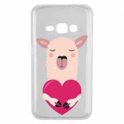 Чохол для Samsung J1 2016 Lama with heart