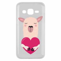 Чохол для Samsung J2 2015 Lama with heart