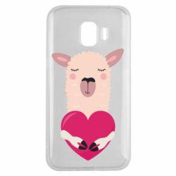 Чохол для Samsung J2 2018 Lama with heart