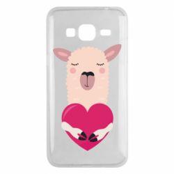 Чохол для Samsung J3 2016 Lama with heart
