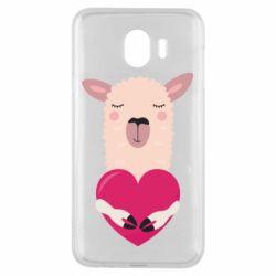 Чохол для Samsung J4 Lama with heart