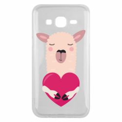 Чохол для Samsung J5 2015 Lama with heart