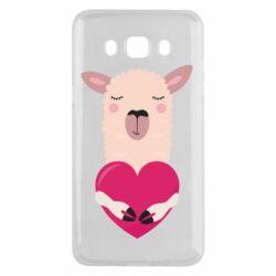 Чохол для Samsung J5 2016 Lama with heart