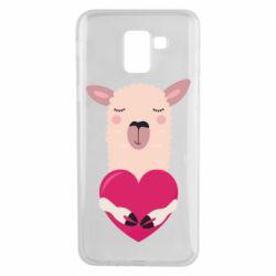 Чохол для Samsung J6 Lama with heart