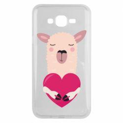 Чохол для Samsung J7 2015 Lama with heart