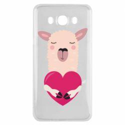 Чохол для Samsung J7 2016 Lama with heart