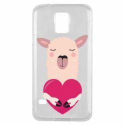 Чохол для Samsung S5 Lama with heart