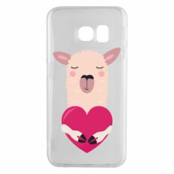 Чохол для Samsung S6 EDGE Lama with heart