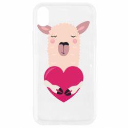 Чохол для iPhone XR Lama with heart