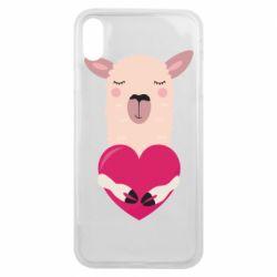 Чохол для iPhone Xs Max Lama with heart