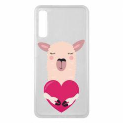 Чохол для Samsung A7 2018 Lama with heart