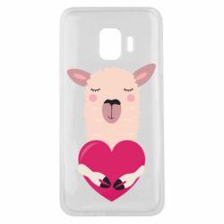 Чохол для Samsung J2 Core Lama with heart