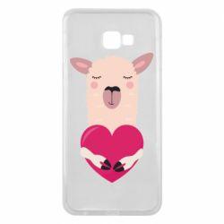 Чохол для Samsung J4 Plus 2018 Lama with heart