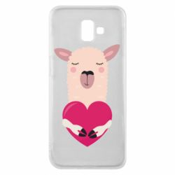 Чохол для Samsung J6 Plus 2018 Lama with heart