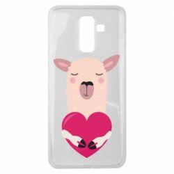 Чохол для Samsung J8 2018 Lama with heart
