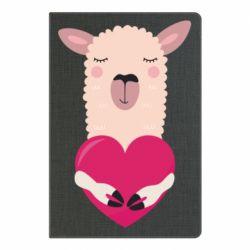 Блокнот А5 Lama with heart