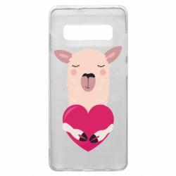 Чохол для Samsung S10+ Lama with heart