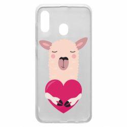 Чохол для Samsung A30 Lama with heart